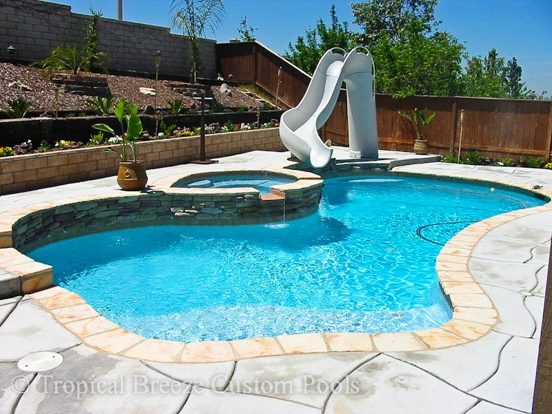Home Tropical Breeze Custom Pools