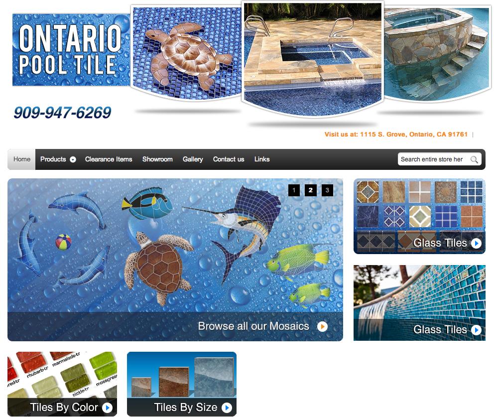 ontario pool and spa tile